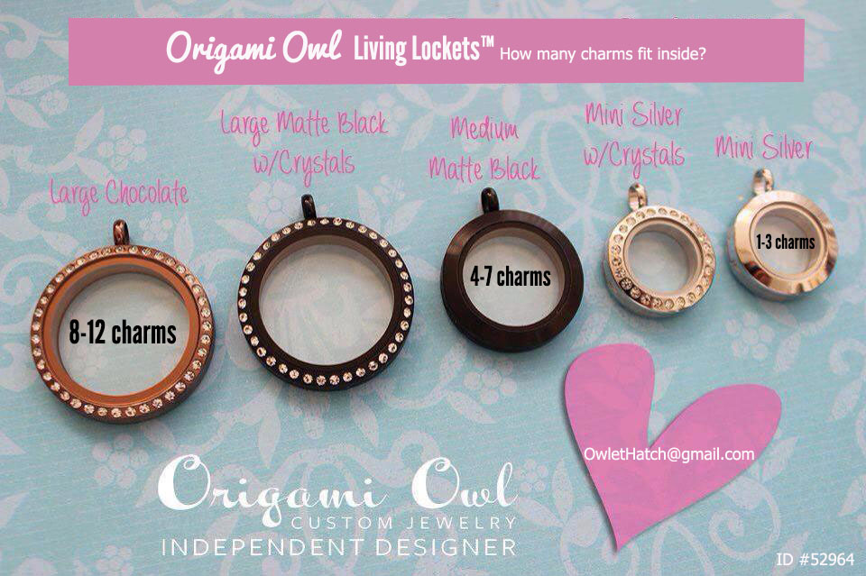 How Many Charms Fit Inside The Origami Owl Living Lockets The